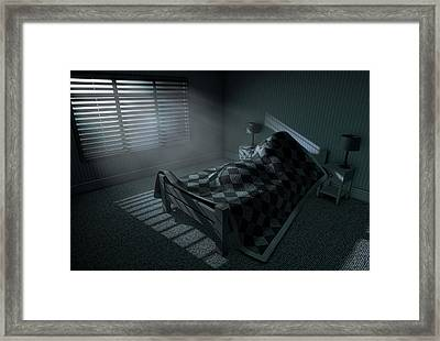 Moonlight Sleep In Framed Print by Allan Swart