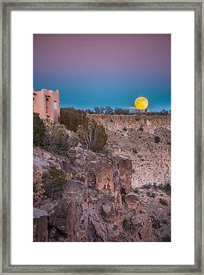 Moonrise Framed Print by Elena E Giorgi
