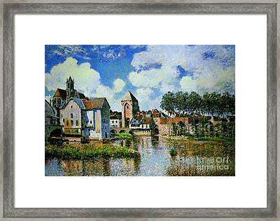 Moret-sur-loing Framed Print by Celestial Images