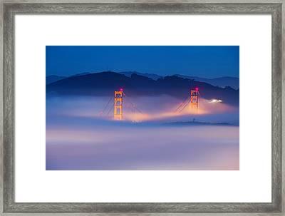 Morning Fog - Marin Headlands Framed Print
