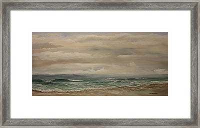 Morning Surf Framed Print by Ken Ahlering