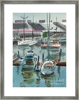 Moss Landing Framed Print by Donald Maier