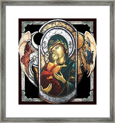 Mother Of God Framed Print by Iosif Ioan Chezan