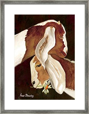 Mother's Love Framed Print by Anne Beverley-Stamps