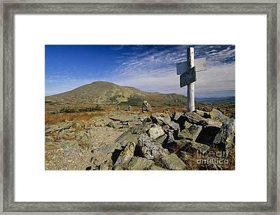 Mount Washington - White Mountains New Hampshire Usa Framed Print by Erin Paul Donovan