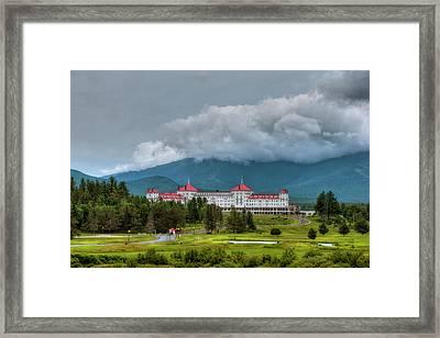 Mount Washington Hotel - Bretton Woods Nh Framed Print by Joann Vitali