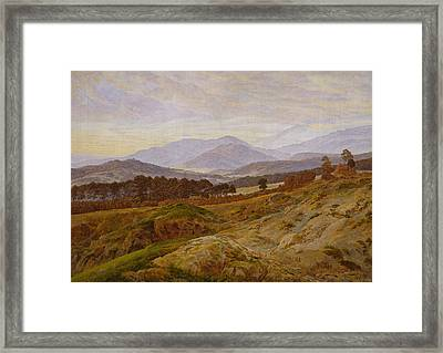 Mountain In Riesengebirge Framed Print by Caspar David Friedrich