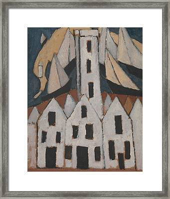 Movement No. 5, Provincetown Houses Framed Print