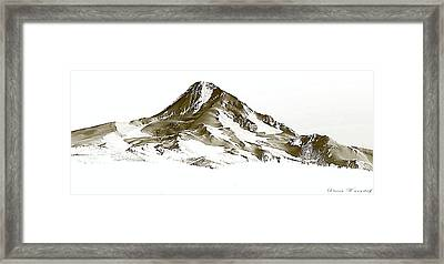 Mt. Hood Framed Print by Steve Warnstaff