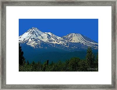 Mt. Shasta Framed Print by Steve Warnstaff