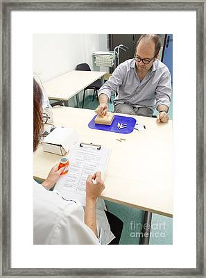 Multiple Sclerosis, Consultation Framed Print by Fr�d�rik Astier