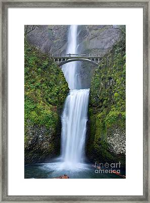 Multnomah Falls Waterfall Oregon Columbia River Gorge Framed Print by Dustin K Ryan