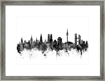 Munich Germany Skyline Framed Print by Michael Tompsett