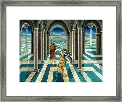 Musicians In The Temple Framed Print by Gloria Cigolini-DePietro