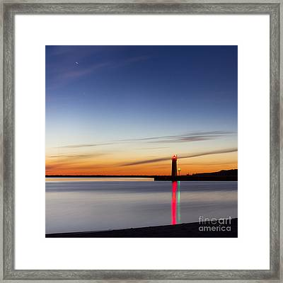 Muskegon Lighthouse Framed Print by Twenty Two North Photography