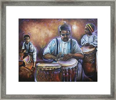Framed Print featuring the painting My Boys by Emery Franklin