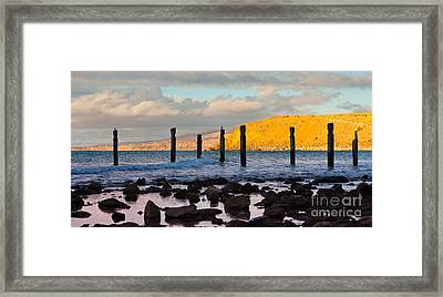 Myponga Beach Jetty Ruins Framed Print