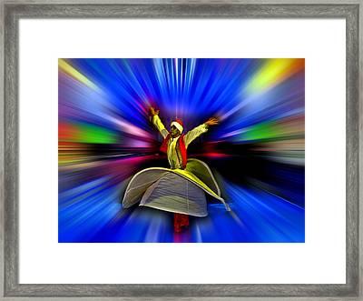 Mystical Dance Of The Dervish. Framed Print