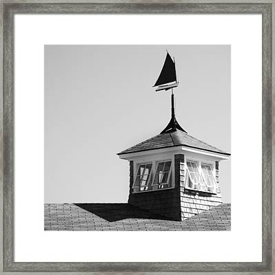 Nantucket Weather Vane Framed Print