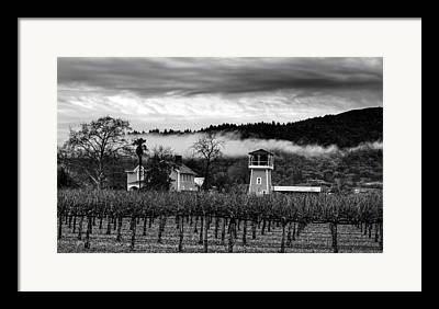 Napa Valley And Vineyards Framed Prints
