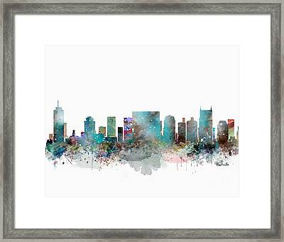 Nashville Tennessee Skyline  Framed Print by Bri B