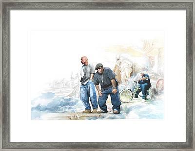 Nate, Biggie, 2pac / Wonder If Heaven Got A Ghetto Framed Print by Jani Heinonen