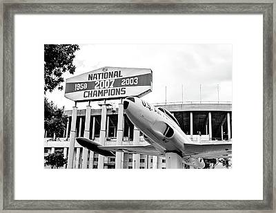 National Champions - Bw Framed Print