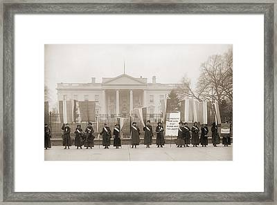 National Womens Party Demonstration Framed Print by Everett