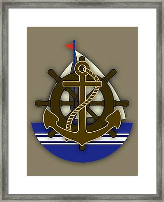 Nautical Collection Framed Print by Marvin Blaine