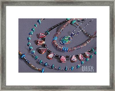 Navajo Jewelry Framed Print by Donald Maier