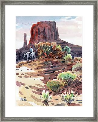 Navajo Rider Framed Print by Donald Maier