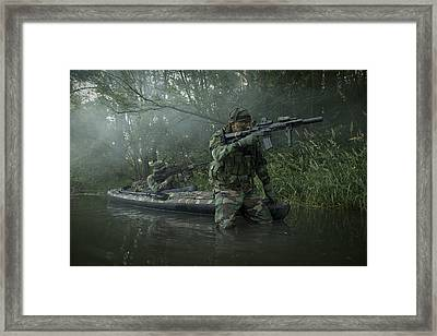 Navy Seals Navigate The Waters Framed Print