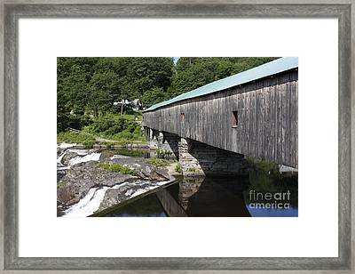 New Hampshire Covered Bridge Framed Print by Stan and Anne Foster