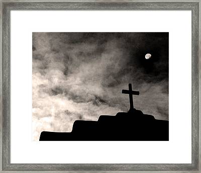 New Mexico Moon Framed Print