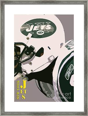 New York Jets Football Team And Original Typography Framed Print by Pablo Franchi