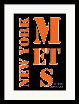 New York Mets Stadium Drawings Framed Prints