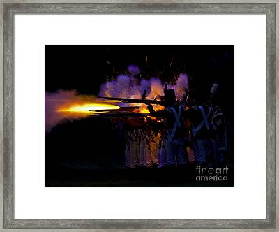 Night Battle Framed Print by JT Lewis