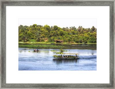 Nile Valley In Egypt Framed Print