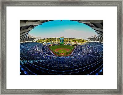 Kc Royals Stadium. Framed Print