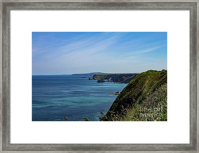 Framed Print featuring the photograph North Coast Cornwall by Brian Roscorla