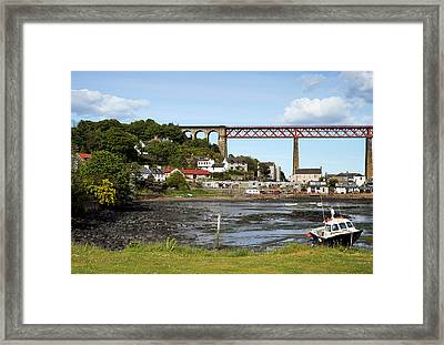 Framed Print featuring the photograph North Queensferry by Jeremy Lavender Photography