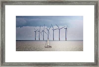 North Sea Wind Farm Framed Print