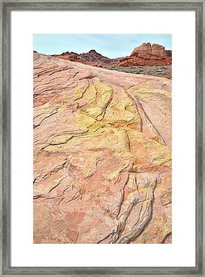 Framed Print featuring the photograph North Valley Of Fire by Ray Mathis