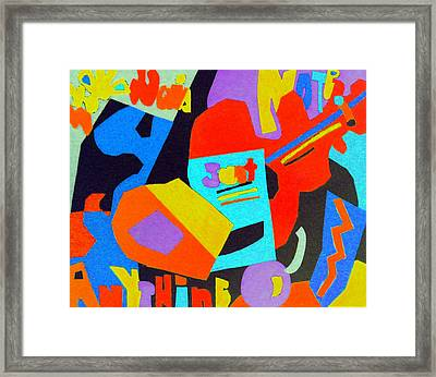 Note Just Anything Framed Print by Stephen Davis