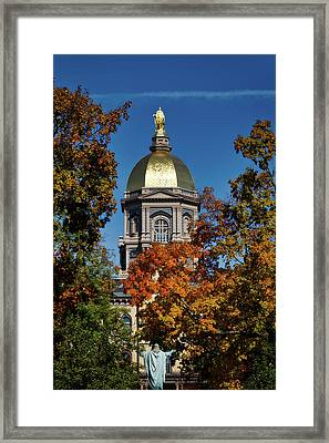 Notre Dame's Golden Dome Framed Print by Mountain Dreams
