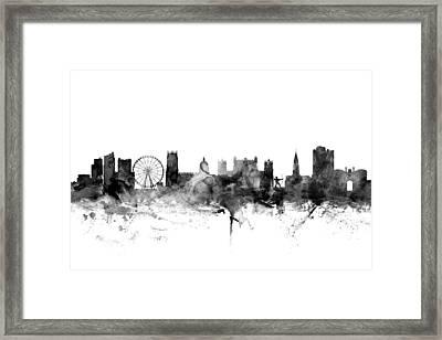 Nottingham England Skyline Framed Print