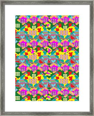Novino Sale Abstract Graphic Designs On Pod Gifts Phone Cases Pillow Covers Tote Bags Duvet Covers P Framed Print by Navin Joshi