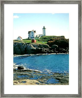 Nubble Lighthouse Maine Framed Print