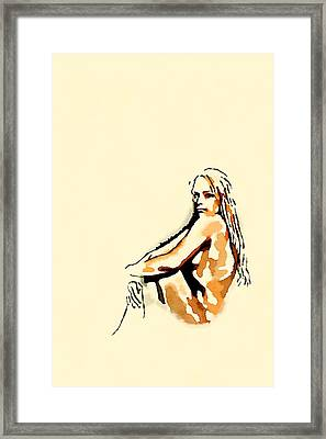 Nude Study By Frank Falcon Framed Print