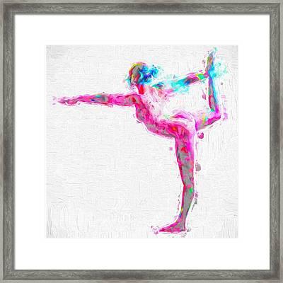 @nude_yogagirl #nudeyogagirl Framed Print